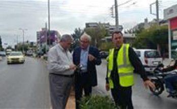 Αποξήλωση των παράνομων πινακίδων και διαφημιστικών αφισών στο Δήμο Αμαρουσίου