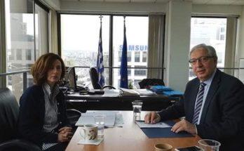 Θεόδωρος Αμπατζόγλου : Συνάντηση εργασίας με την Αντιπεριφερειάρχη Βόρειου Τομέα Αθηνών Λουκία Κεφαλογιάννη.