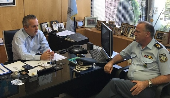 Με τον Αστυνομικό Διευθυντή Βορειοανατολικής Αττικής Συναπαντήθηκε ο Δήμαρχος Παπάγου - Χολαργού Ηλίας Αποστολόπουλος