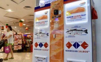 Στη Σιγκαπούρη το πρώτο ΑΤΜ σολομού στον κόσμο είναι γεγονός