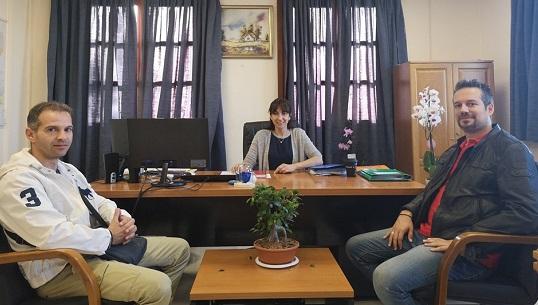 Η Δήμαρχος Πεντέλης Δ. Κεχαγιά συναντήθηκε με τον Διοικητή Ασφαλείας Δήμου Πεντέλης κ. Τζατζάκη και τον Υποδιοικητή κ.Πλεξουσάκη