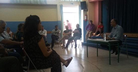 Mε πολίτες της περιοχής Μποφίλια είχε συνάντηση ο Δήμαρχος Μεταμόρφωσης, Στράτος Σαραούδας,