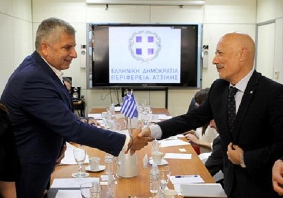 Συνάντηση του Περιφερειάρχη Αττικής Γ. Πατούλη με στελέχη του ΟΗΕ για στενότερη συνεργασία και την ανάπτυξη κοινών δράσεων