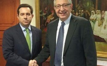 Με τον Νότη Μηταράκη υφυπουργό Εργασίας και Κοινωνικών Υποθέσεων συναντήθηκε σήμερα ο Θεόδωρος Αμπατζόγλου