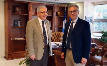 Ο Θεόδωρος Αμπατζόγλου συναντήθηκε με το Βουλευτή ΝΔ Βορείου Τομέα Β' Αθηνών κο Θεόδωρο Ρουσόπουλο.
