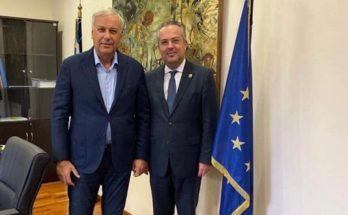 Συνάντηση του Δημάρχου Παπάγου - Χολαργού Ηλία Αποστολόπουλο με τον Γεν. Γραμματέας του Υπουργείο Εσωτερικών κ. Μιχάλης Σταυριανουδάκης