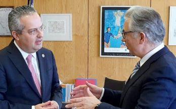 Ο Ηλίας Αποστολόπουλος συναντήθηκε με το Βουλευτή ΝΔ Βορείου Τομέα Β' Αθηνών κο Θεόδωρο Ρουσόπουλο.