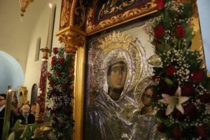 Δήμος Παπάγου – Χολαργού: Υποδοχή της Ιεράς Εικόνας της Παναγίας της Εσφαγμένης, από την Ιερά Μέγιστη μονή Βατοπαιδίου, σήμερα στον Ιερό Ναό Άγιος Γεώργιος Παπάγου.
