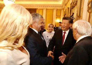 Στην τιμητική εκδήλωση που πραγματοποιήθηκε στο Προεδρικό Μέγαρο για τον Πρόεδρο της Λαϊκής Δημοκρατίας της Κίνας Σι Τζινπίνγκ, ο Περιφερειάρχης Αττικής Γ. Πατούλης