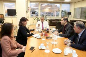 Συνάντηση του Περιφερειάρχη Αττικής Γ. Πατούλη με τον Δήμαρχο Αλίμου Ανδρέα Κονδύλη