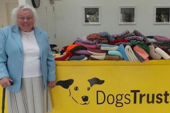 Μια 89χρονη φιλόζωη γιαγιά πλέκει 450 κουβέρτες για καταφύγιο αδέσποτων σκύλων