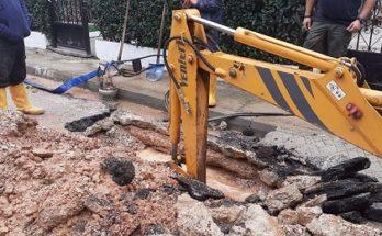 Πέντε βλάβες στο δίκτυο ύδρευσης Νέας Ερυθραίας-Πραγματοποιούνται εργασίες για την αποκατάστασή τους