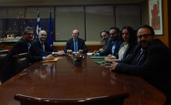 Συνάντηση με τον Υπουργό Περιβάλλοντος και Ενέργειας, Κωστή Χατζηδάκη.