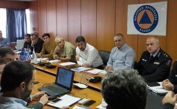 Συντονιστική σύσκεψη για την αντιμετώπιση κινδύνων από χιονοπτώσεις και παγετό κατά τη χειμερινή περίοδο 2019-2020
