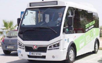 Τα πρώτα δρομολόγια του ηλεκτρικού λεωφορείου ξεκινούν στο Ρέθυμνο