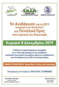 ΣΠΑΠ: 5η Εθελοντική Αναδάσωση για το 2019 με το Δήμο Κηφισιάς και το « Όλοι Μαζί Μπορούμε και στο Περιβάλλον» στο Πεντελικό