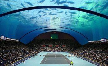 Το πρώτο υποβρύχιο γήπεδο τένις του κόσμου σχεδιασμένο για το Ντουμπάι ψάχνει για επενδυτές