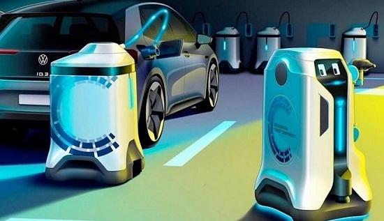 Αυτόνομα ρομπότ για φόρτιση ηλεκτρικών οχημάτων προτείνει η Volkswagen