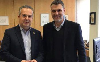 Δήμος Παπάγου Χολαργού : Ο Δήμαρχος Ηλίας Αποστολόπουλος, συναντήθηκε με τον Γιάννη Σιδέρη, Διευθύνοντα Σύμβουλο του Εθνικού Οργανισμού Ανακύκλωσης