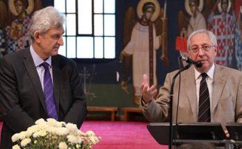 Ο Θεόδωρος Αμπατζόγλουστην κοπή πίτας του Εξωραϊστικού & Πολιτιστικού Συλλόγου Αγ Φιλοθέης Αμαρουσίου «Ο Άγιος Γεώργιος».