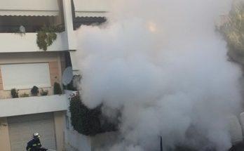 Βριλήσσια : Το μεσημέρι ένα μικρό Βαν πήρε φωτιά