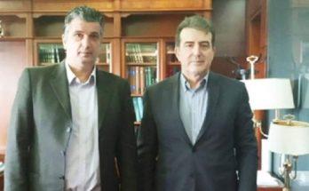 Ο Δήμαρχος Βριλησσίων Ξ. Μανιατογιάννης συναντήθηκε σήμερα με τον Υπουργού Προστασίας του Πολίτη Μιχάλη Χρυσοχοίδη