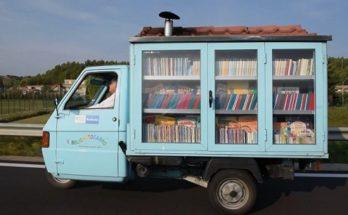 Αυτή είναι η μικρότερη κινούμενη βιβλιοθήκη στην Ιταλία