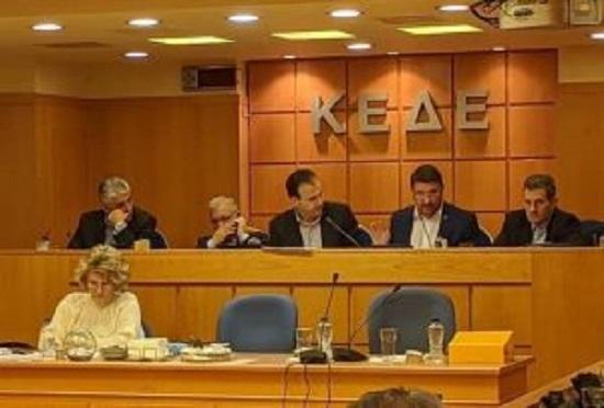 Ο Πρόεδρος του Σ.Π.Α.Π. και Αντιπρόεδρος του Εποπτικού Συμβουλίου της Κ.Ε.Δ.Ε. Βλάσσης Σιώμος στη συνεδρίαση της Κ.Ε.Δ.Ε. με θέμα το υπό ψήφιση σχέδιο νόμου για την Πολιτική Προστασία