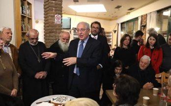 Ο Θεόδωρος Αμπατζόγλου στην κοπή πίτας του Πολιτιστικού, Κοινωφελούς & Εξωραϊστικού Συλλόγου Πολυδρόσου «Ο Άγιος Αθανάσιος»