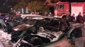 Νύχτα τρόμου στο Μαρούσι – παρανάλωμα του πυρός δώδεκα αυτοκίνητα