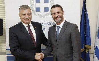 Συνάντηση του Περιφερειάρχη Αττικής Γ. Πατούλη με τον δήμαρχο Σαλαμίνας Γ. Παναγόπουλο