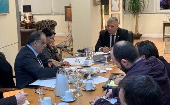 Συνάντηση του Περιφερειάρχη Αττικής Γ. Πατούλη με τον Δήμαρχο Περάματος Γ. Λαγουδάκη