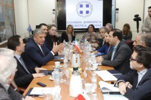 Επίσκεψη υψηλόβαθμων στελεχών και αξιωματούχων του Παγκόσμιου Οργανισμού Υγείας στον Περιφερειάρχη Αττικής και Πρόεδρο του Ελληνικού Δικτύου Υγιών Πόλεων Γ. Πατούλη - Συνεργασία με το Ελληνικό Δίκτυο Υγιών Πόλεων