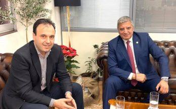 Συνάντηση του Περιφερειάρχη Αττικής Γ. Πατούλη με τον Πρόεδρο της ΚΕΔΕ Δημήτρη Παπαστεργίου
