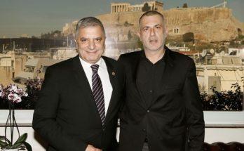 Συνάντηση Γ. Πατούλη με Γ. Μώραλη και τον καλλιτεχνικό Διευθυντή του Δημοτικού Θεάτρου Πειραιά Ν. Διαμαντή