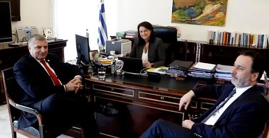 Συνάντηση του Περιφερειάρχη Αττικής Γ. Πατούλη με την Υπουργό Παιδείας Ν. Κεραμέως για τον προγραμματισμό κοινών δράσεων