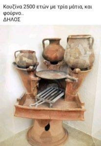 2500 χρόνια πριν στη Δήλο υπήρχε κουζίνα με 3 μάτια φούρνο, σχάρα και πλάκα ψησίματος