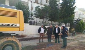 Αυτοψία στα εκτελούμενα έργα στις περιοχές Αγ. Θωμά, Εργατικών Κατοικιών, Κοκκινιάς και Νέου Αμαρουσίου πραγματοποίησε σήμερα ο Δήμαρχος Αμαρουσίου