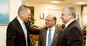 Συνάντηση του Περιφερειάρχη Αττικής Γ. Πατούλη και του Υφυπουργού Εθνικής Άμυνας Α. Στεφανή