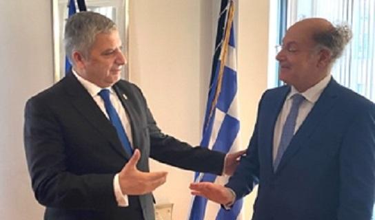 Συνάντηση του Περιφερειάρχη Αττικής και νέου Αντιπροέδρου της Επιτροπής των Περιφερειών Γ. Πατούλη με τον Έλληνα Πρέσβη στο Βέλγιο Διονύσιο Καλαμβρέζο