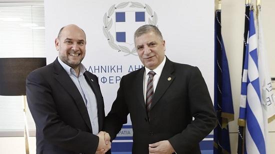 Συνάντηση του Περιφερειάρχη Αττικής Γ. Πατούλη με τον Πρόεδρο του ΕΚΑΒ Ν. Παπαευσταθίου για θέματα που αφορούν στην προμήθεια ασθενοφόρων μέσω ΠΕΠ