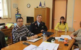 Πεντέλη : Συνάντηση της Δήμητρας Κεχαγιάς με τον νέο Διευθυντή της Αστυνομικής Διεύθυνσης Βορειοανατολικής Αττικής, Ταξίαρχο κ. Π. Κολλιντζά και τον Διευθυντή Ασφαλείας Βορειοανατολικής Αττικής Ι. Λιανουδάκη.