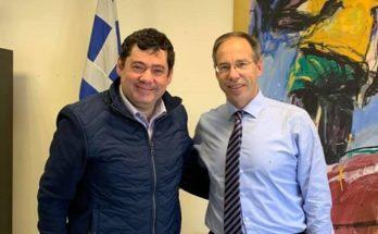 Ο Δήμαρχος Λυκόβρυσης Πεύκης Τάσος Μαυρίδης συναντήθηκε με τον Γενικό Γραμματέα Αθλητισμού, κ. Γιώργο Μαυρωτά