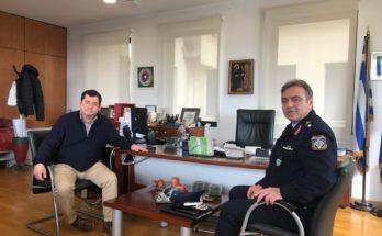 Τον νέο Διευθυντή της ΕΛΑΣ για τη Βορειοανατολική Αττική υποδέχθηκε ο Δήμαρχος