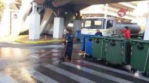 Μαρούσι : Εργασίες καθαριότητας και απολύμανσης στους ανοικτούς κοινόχρηστους χώρους και τους κάδους απορριμμάτων και ανακύκλωσης