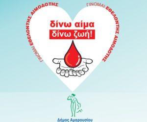 Ως εκ τούτου, από την 31η Μαρτίου 2020, κινητό συνεργείο του νοσοκομείου Αμαλία Φλέμινγκ, που θα αποτελείται από επιστημονικό προσωπικό διασφαλίζοντας την τήρηση των υγειονομικών κανονισμών για την προστασία των αιμοδοτών, θα πραγματοποιεί καθημερινά αιμοληψίες από τις 09:00 έως τις 13:30 , με δυνατότητα επέκτασης και σε απογευματινή βάρδια ή και Σαββατοκύριακα, ανάλογα με την έκβαση της επιδημίας.