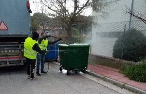 Λυκόβρυση Πεύκη: Συνεχίζεται το πρόγραμμα απολύμανσης κοινοχρήστων χώρων, δομών, εγκαταστάσεων και κάδων απορριμμάτων του Δήμου