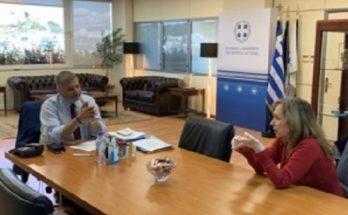 Συνάντηση του Περιφερειάρχη Αττικής Γ. Πατούλη με την Πρόεδρο του Συλλόγου Ελλήνων Κοινωνιολόγων (ΣΕΚ) Ε. Τσαπατσάρη