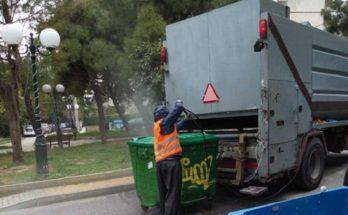 Λυκόβρυση Πεύκη : Συνεχίζουμε καθημερινά με τις πλύσεις και απολυμάνσεις των κάδων απορριμμάτων σύμφωνα με το πρόγραμμα των προληπτικών μέτρων κατά της διασποράς του νέου κορωνοϊού.