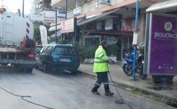 Πεύκη Λυκόβρυση: Καθημερινές απολυμάνσεις και πλύσεις κάδων από τον Δήμο